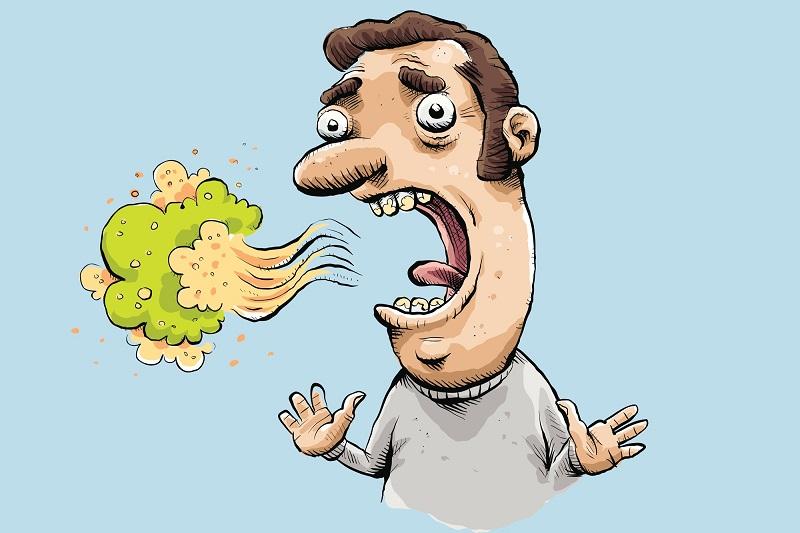 Người hay ăn tỏi, hành, chất béo hơi thở thường có mùi hôi