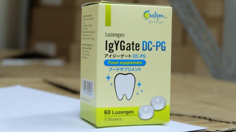 IgYGate DC-PG được điều chế dưới dạng viên ngậm nên rất tiện lợi khi sử dụng