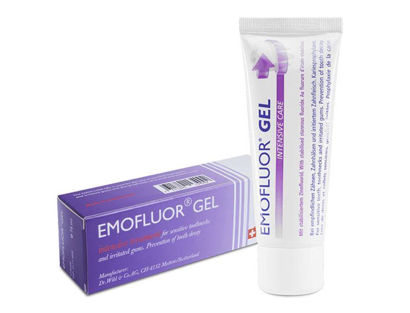 Emofluor Gel giúp giảm tình trạng sưng lợi nhanh chóng.