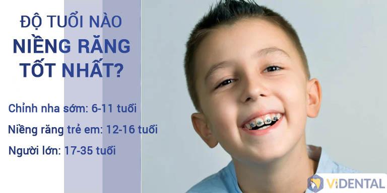 Độ tuổi thích hợp để trẻ niềng răng tại Vidental
